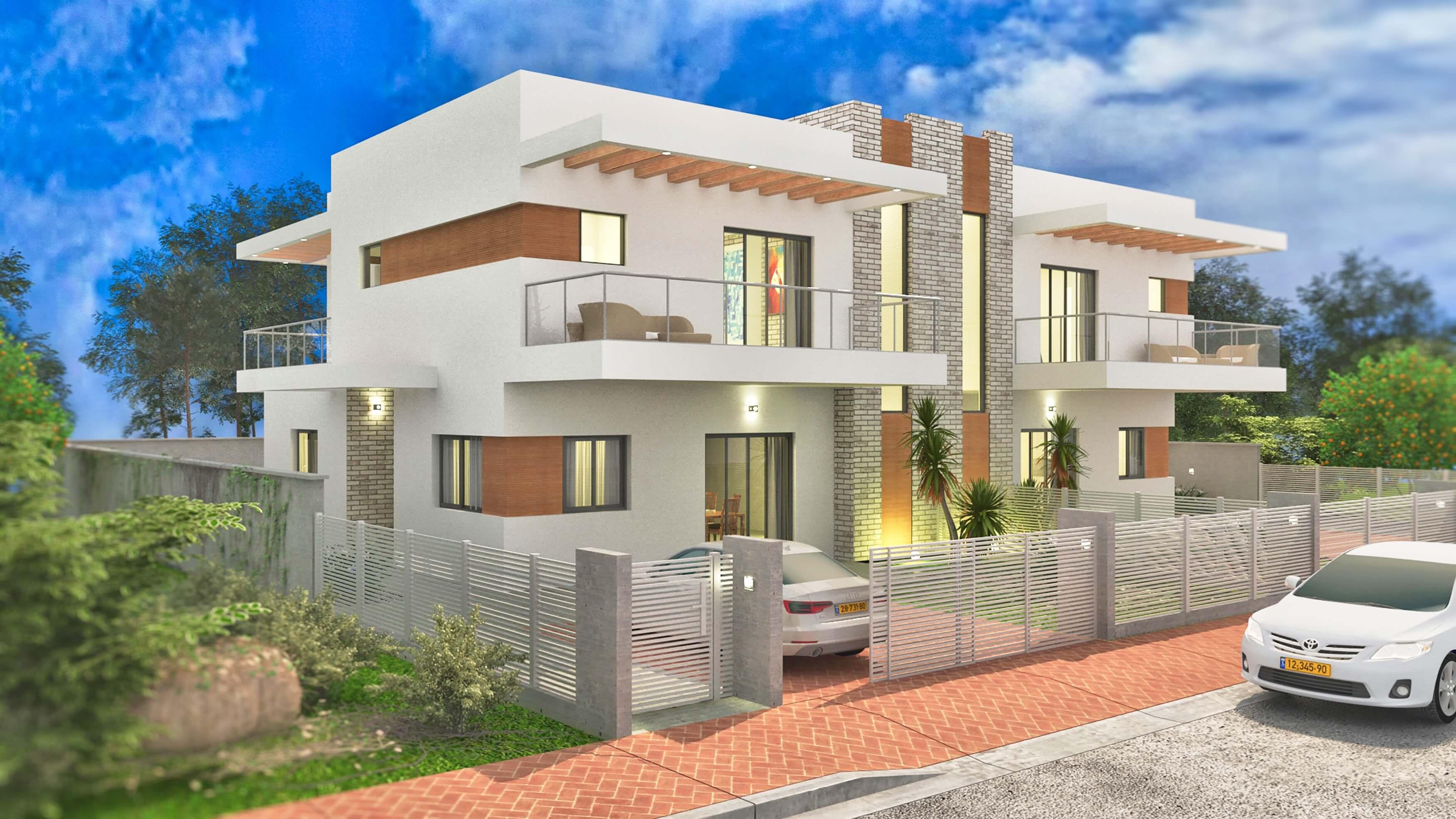 אדריכלות בית דו משפחתי