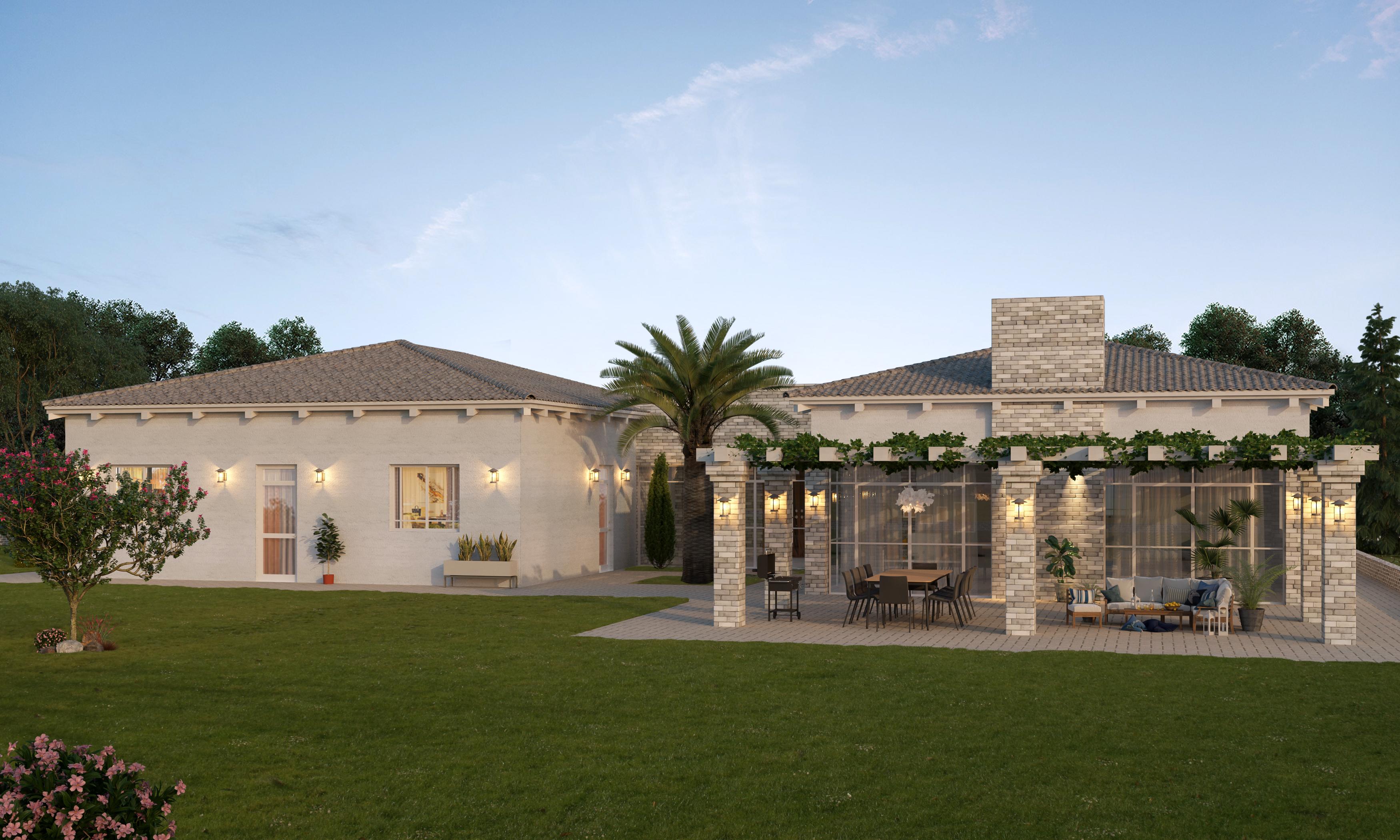 אדריכלות בית כפרי גינה