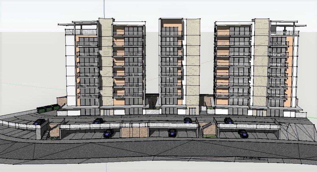 תכנון בניין מגורים 9 קומות בגליל