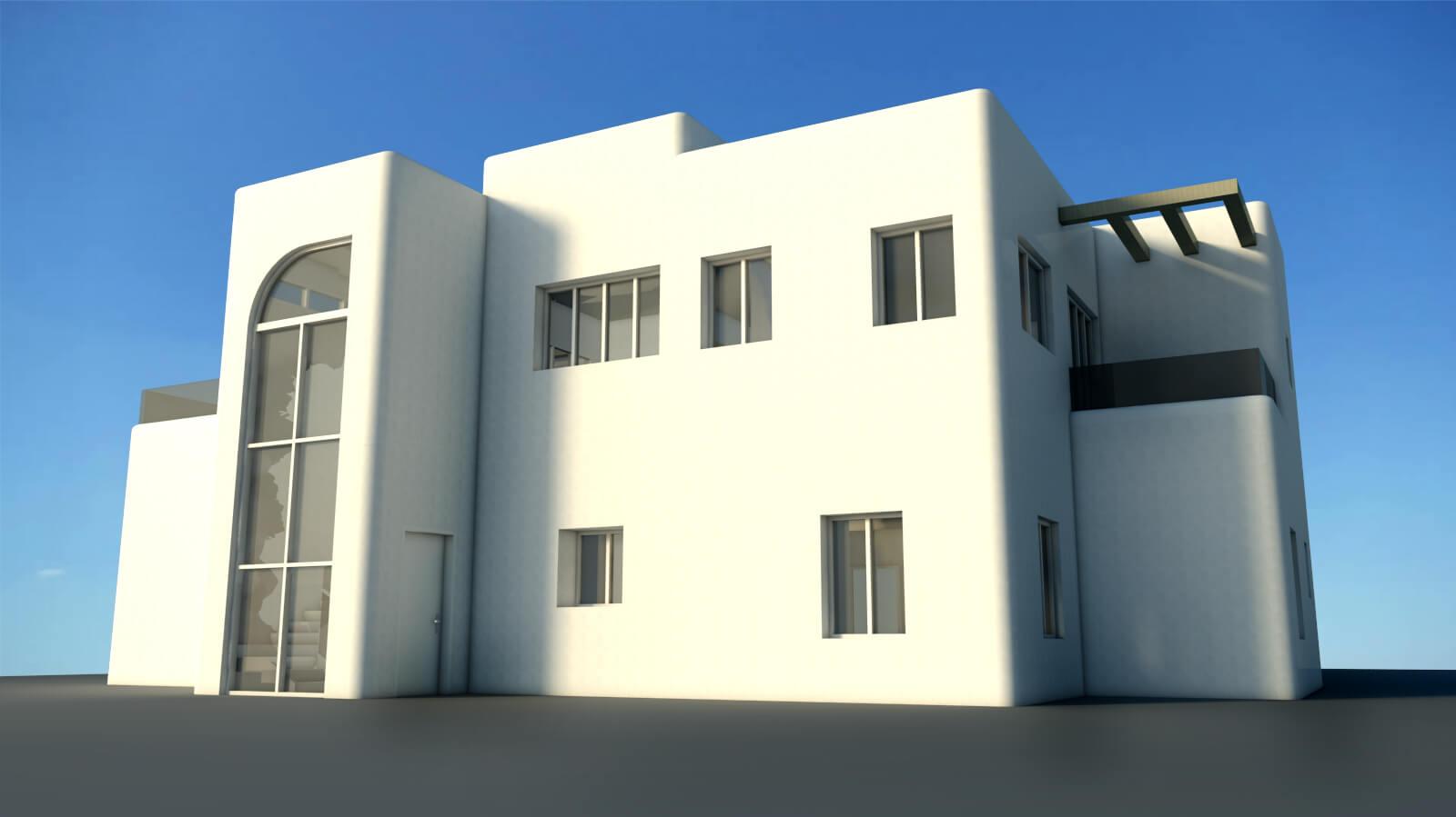תוספת בניה לבית קיים מבט נוסף