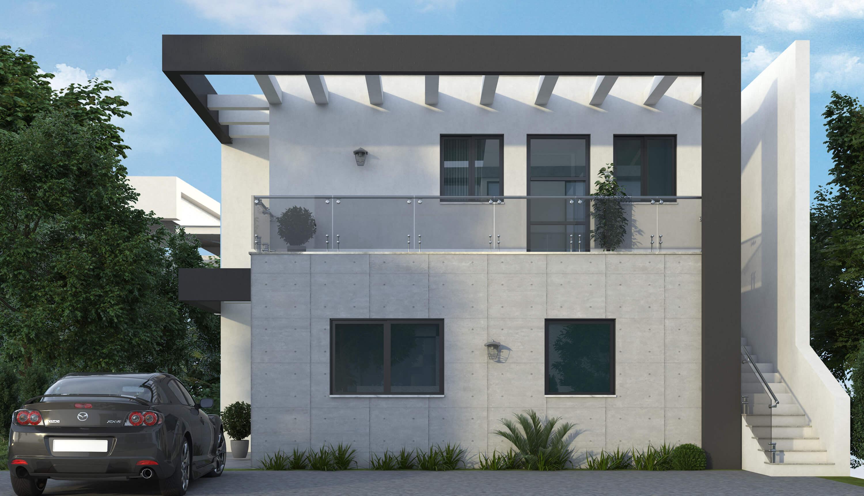 חזית ראשית בית מודרני
